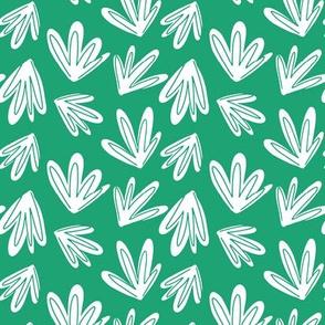 Gator Grass, White on Green