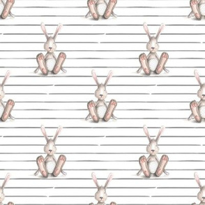 "4"" Thumper Rabbit // Gray Stripes"