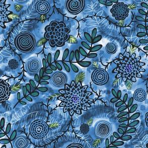Stormy Garden Blue