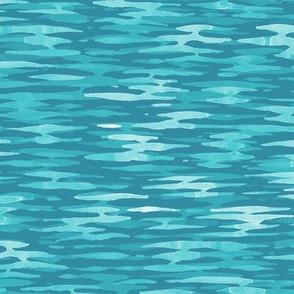 Watercolor Ripples -  Sea Green