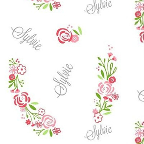 shabby chic rose bliss - petal PERSONALIZED Sylvie