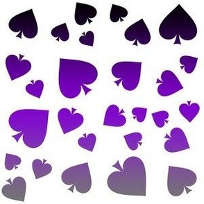 Lg. Asexual Spade Motif Gradient