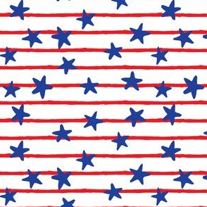 stars and stripes - red and blue  - LAD19
