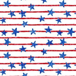 stars and stripes - red and blue textured  - LAD19