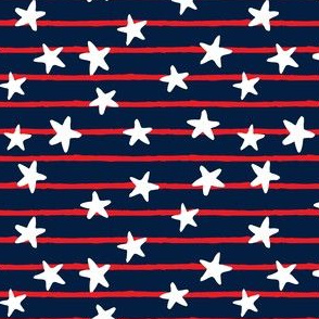 stars and stripes - red & white on blue - LAD19