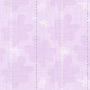 Violet linen stripe and flower