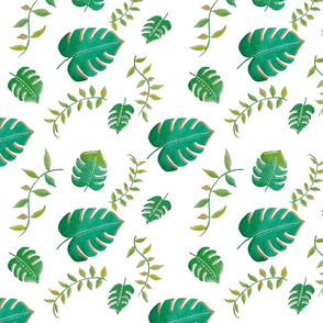 Bohemian Tropical Leaves