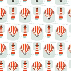 Lighthouse & Hot Air Balloon