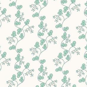 Leafy Berry Vines, Stripes