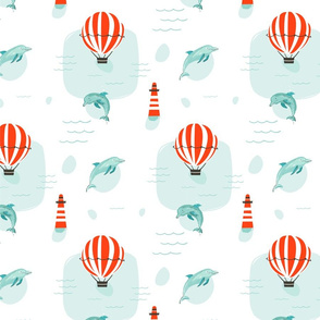 Dolphins & Balloons
