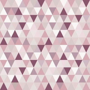 Rose, Purple, Neutral Small Triangles
