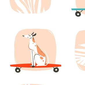 Skate Dog - Peach