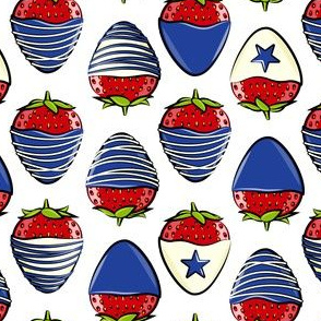 chocolate covered strawberries -  white - red white and blue LAD19