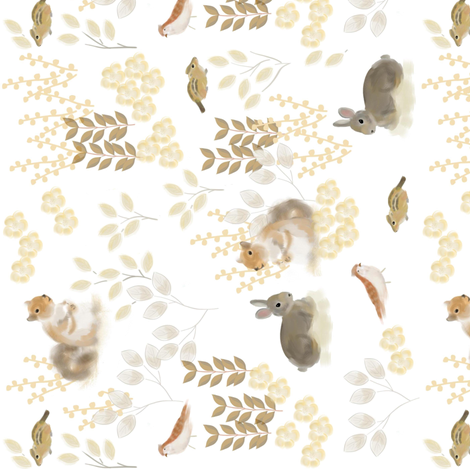 Woodland Friends 90 fabric by susan_polston on Spoonflower - custom fabric