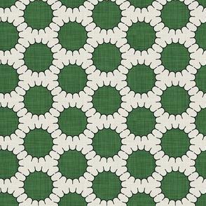 green pincushion dot