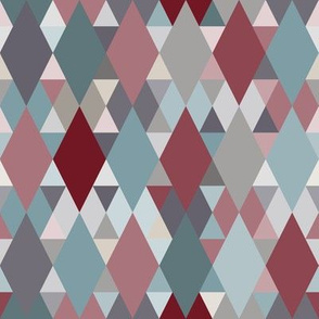 Red Teal Neutral Geometry III