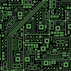Evil Robot Circuit Board (Extra Large Green)