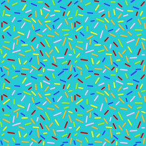 Ice Cream Sprinkles Teal - Half Sized