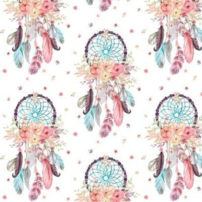 Dream Catchers w/ Feathers + Flowers, SMALL Scale