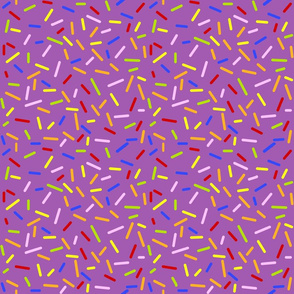 Ice Cream Sprinkles Purple - Half Size