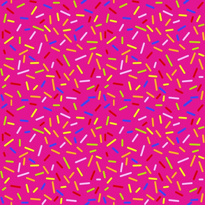 Ice Cream Sprinkles Pink - Half Size
