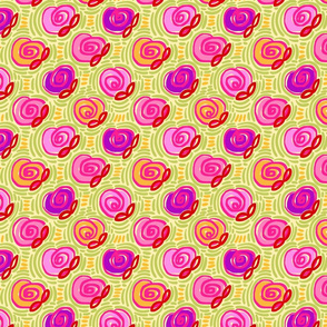 doodle roses yellow