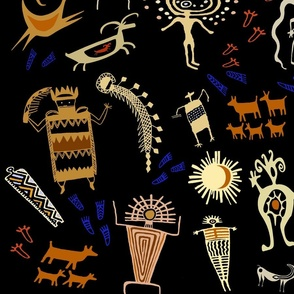 Southwest Shaman Rock Art - Wallpaper