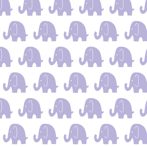 Little Lilac Elephant fabric by sewluvin on Spoonflower - custom fabric