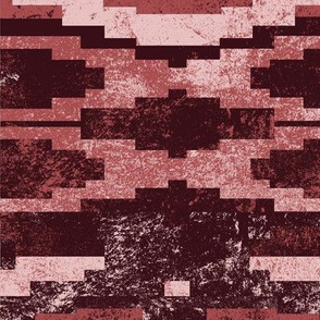 aztecc geo horizontal in maroon