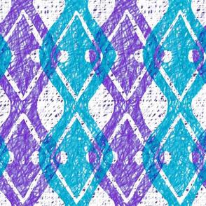Boho Diamonds | Aqua + Purple