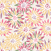 borgoña - messy flowers