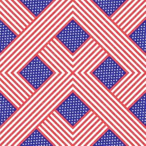 (small scale) American flag  - geometric C19BS
