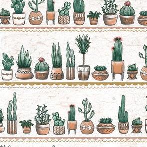 Phoenix Plant Lady Terracotta Pots with Cacti + Succulents // Desert Modernism // Mid-Century Modern // Cactus, succulent, plants, trees, geometric, adobe, patio, garden, terra cotta, floral, bloom, southwest, desert chic