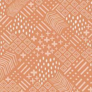 Phoenix Plant Lady Terracotta Texture  // Desert Modernism // Mid-Century Modern // Geometric, cacti, succulents, plants, trees, adobe, patio, southwest, western, desert chic