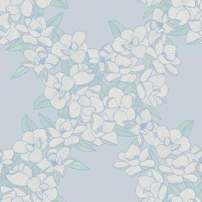 Magnolia Story Main - Powder Blue & Green