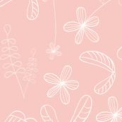 flores naif - simple peach
