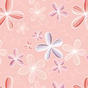flores naif - fun flowers peach