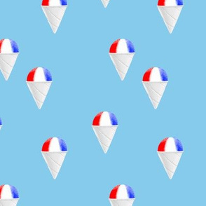 Red White and Blue snow cones - light blue - LAD19