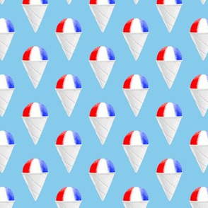 Red White and Blue snow cones - light blue condensed - LAD19