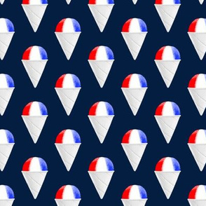 Red White and Blue snow cones - navy condensed - LAD19