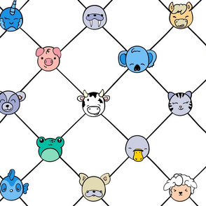 Animal Hall of Fame Grid Medium (Brights)