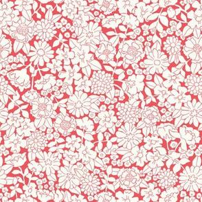 Monochrome meadow red