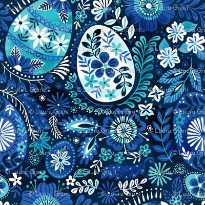 pysanky blue