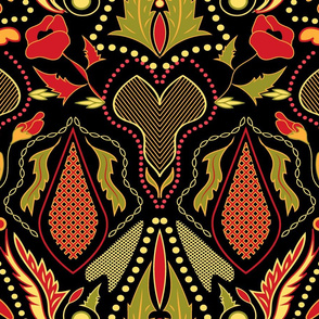 Pisanky traditional folk design pattern