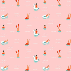 Swim Team - Pink