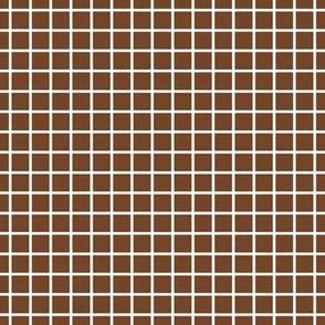 """windowpane 1/2"""" chocolate brown reversed"""