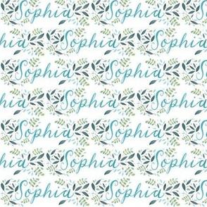 Small Handlettering Name Sophia