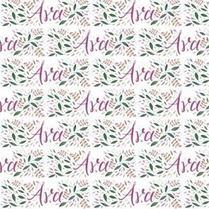 Small Handlettering Name Ava