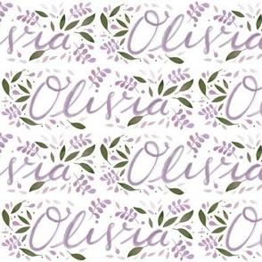 Medium Handlettering Name Olivia
