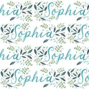 Medium Handlettering Name Sophia
